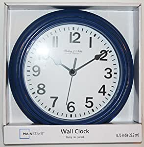 Amazon Com Sterling And Noble Analog Round Wall Clock 8