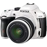 Pentax K-50 16MP Digital SLR Camera Kit with DA L 18-55mm WR f3.5-5.6 and 50-200mm WR Lenses (White)
