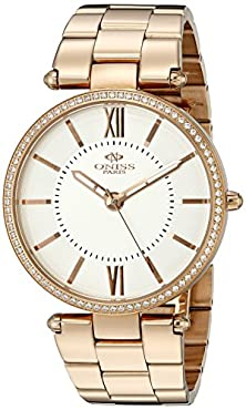buy Oniss Paris Women'S On6021N-Rgw Stupendo Collection Analog Display Swiss Quartz White Watch