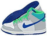 Nike Dunk High Boy's Hi Top Trainers - Grey/White/Blue