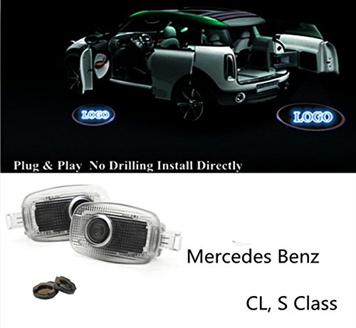 No Drilling LED Door Courtesy Logo Lights Ghost Shadow Projectors for Mercedes Benz Cl S AMG Series