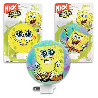 1 piece of SPONGEBOB NIGHT LIGHT IN 3 ASSORTMENTS