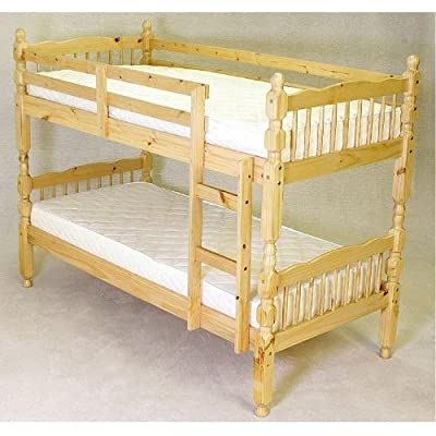 Milano Single (3ft) Pine Bunk Bed Frame + 2 economy mattresses ON SALE NOW!!!