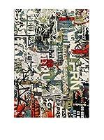 ABC Tappeti Alfombra Metropolitan Street Art (Verde/Blanco/Multicolor)
