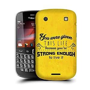 MobileGlaze Designs Retro Encouraging Quote Strong Enough Hard Back Case Cover for BLACKBERRY BOLD TOUCH 4 9900