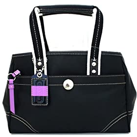Coach Hamptons Small Black Nylon Tote Bag (11992)