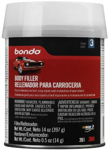 Bondo 261 Lightweight Filler Pint Can - 14 oz. with 0.50oz Cream Hardener