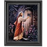 Jesus Knocking On Your Door Religious Wall Picture Framed Art Print