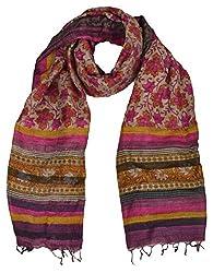 Sumona and Me Women's Silk Dupatta (Multi-Coloured)