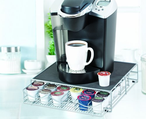 KEURIG K-CUP STORAGE DRAWER - HOLDS 36 K-CUPS - SILVER