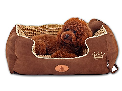 PLS-Paradise-Bolster-Dog-Bed-with-Pillow-Well-padded-Extra-Plush-Completely-Removable-Cover-with-Zipper-Machine-Washable-Easy-Clean-Durable