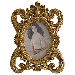 Giftgarden® 4 by 6 Inch Gold Oval Picture Frame