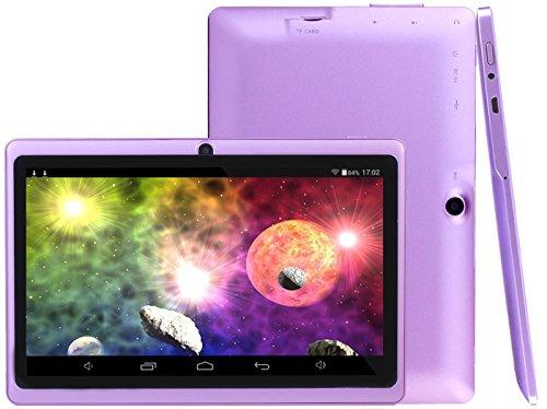 Osgar Ultrathin 7 inch 16GB Tablet PC, HD 1024x600, Google Android 4.4 OS, Allwinner A33 1.3GHz,Quad Core CPU,Dual Camera,Wifi (Purple)