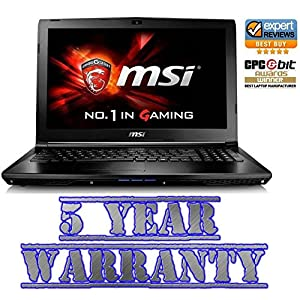 New MSI Gaming Intel i5 Turbo Laptop, 8GB Ram, 2 Graphics Cards inc Dedicated 2GB Geforce, 1TB HDD, Windows 10, inc 5 Year Warranty