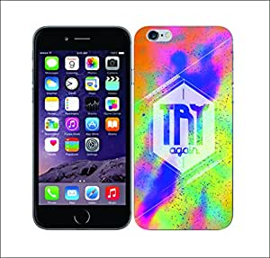 Galaxy Printed 2468 Nebula Insignia Try Hard Cover for Apple Iphone 4