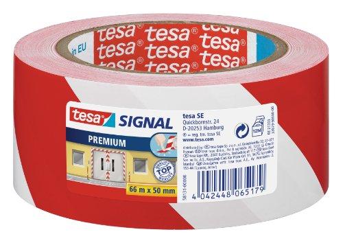 tesa-signal-markierungs-und-warnklebeband-rot-weiss-66m-x-50mm