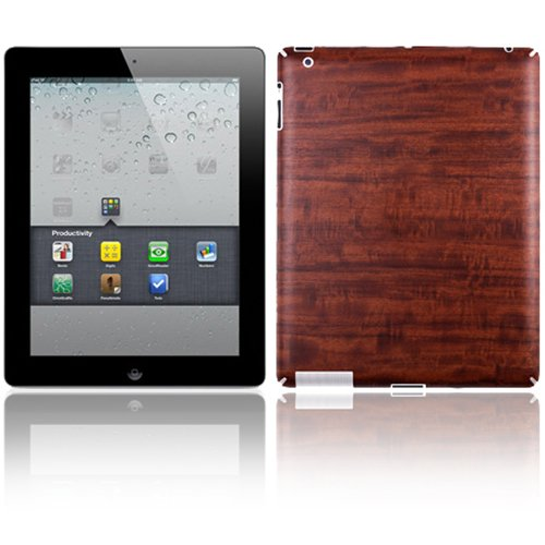 Skinomi Natural Dark Wood Techskin & Screen Protector For Apple iPad 2 WiFi/CDMA Verizon from Skinomi