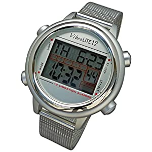Global Assistive Devices VibraLITE 12 Vibrating Watch with Stainless Steel Band by Global Assistive Devices