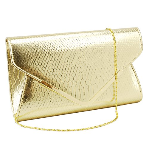 Bolso de Mano de Mujer para Fiesta/Boda/Salir Con Cadena 120 cm Color Dorado