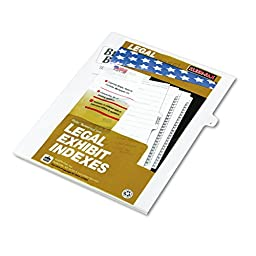 80000 Series Legal Index Dividers, Side Tab, Printed \