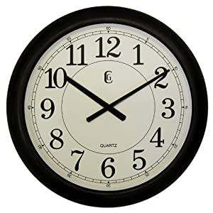 Geneva 24 Inch Dark Brown Plastic Wall Clock