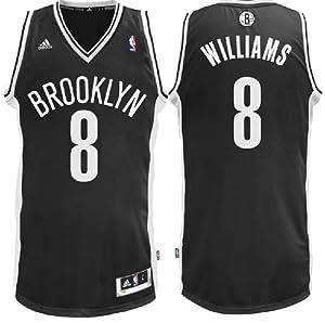 NBA Brooklyn Nets Deron Williams #8 Youth Replica Road Jersey, Black by adidas