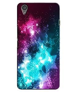 EU4IA Multi Colour Sparkling Stars Pattern MATTE FINISH 3D Back Cover Case Fo...
