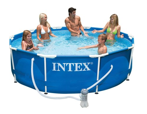 Intex 30in Deep Metal Frame Pool with filter pump in two diameters 10ft #56999 and 12ft #56996