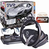 echange, troc Atomic Accessories TVR Sport Steering Wheel (PS3/PS2) [import anglais]
