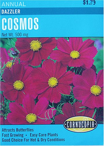 Cosmos Dazzler Seeds - Buy Cosmos Dazzler Seeds - Purchase Cosmos Dazzler Seeds (No Thyme Productions, Home & Garden,Categories,Patio Lawn & Garden,Plants & Planting,Seeds,Seed Starter Kits)