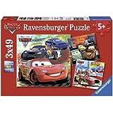 Ravensburger 09281 - Disney Cars: Weltweiter Rennspaß - 3 x 49 Teile Puzzle