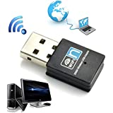 WIFI 300MBPS Wireless Adapter 802.11 B G N LAN Network Mini USB Dongle Adapter