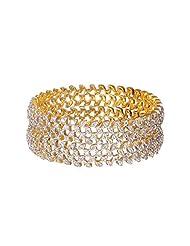 Sheetal Jewellery Silver & Golden Brass & Alloy Bangle Set For Women - B00TIH5JJI