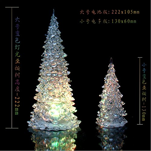 Qich® Color Changing Colorful Christmas Tree Led Light Night Lamp Party Decoration New (Small)