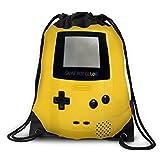 FUNKYLICIOUS Drawstring Bag Polyester GAMEBOY Color Design (Yellow)