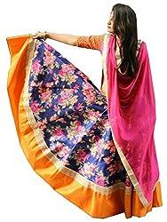The Zeel Fashion blue Color bhaglpoori Anarkali Unstitched lehegas set