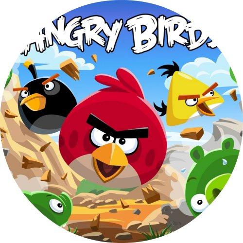 Tortenaufleger Tortenfoto Aufleger Foto Bild Angry Birds rund ca. 20 cm (2) *NEU*OVP*