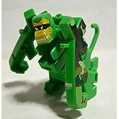 食玩 超変換!!もじバケる6 02 猿 サルバケる 緑