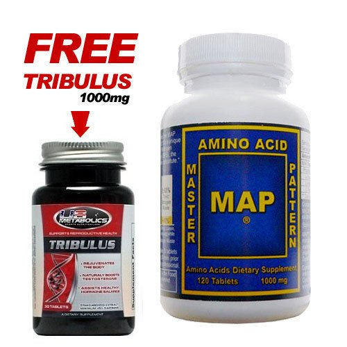MAP Master Amino Acid Pattern 1000mg 120 Tablets Muscle Building + FREE TRIBULUS
