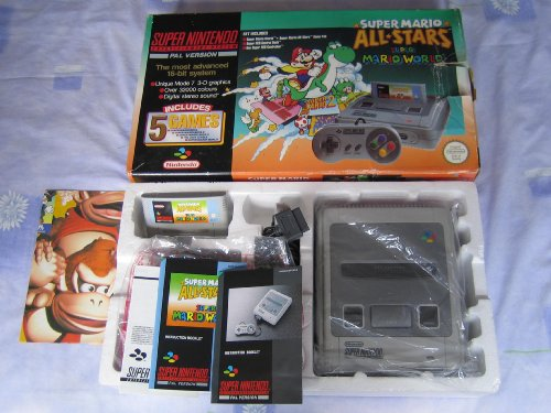 Limited edition super mario allstars super nintendo - How much is a super nintendo console worth ...