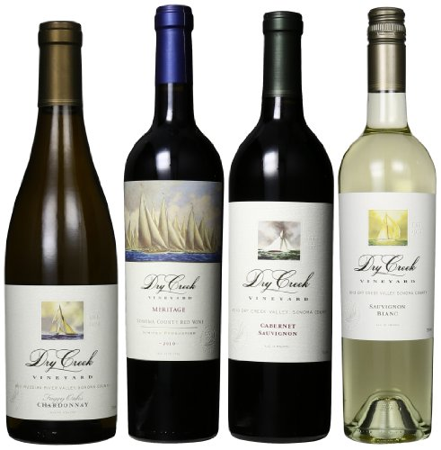Dry Creek Vineyard Red And White Wines Mixed Pack, 4 X 750 Ml