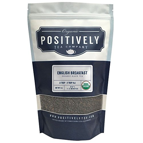 Organic English Breakfast Tea, Loose Leaf Bag, Positively Tea LLC. (1 lb.) (Positively Organic compare prices)