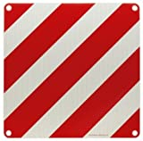 Warntafel für Überlänge Italien, Aluminium, 500 mm x 500 mm