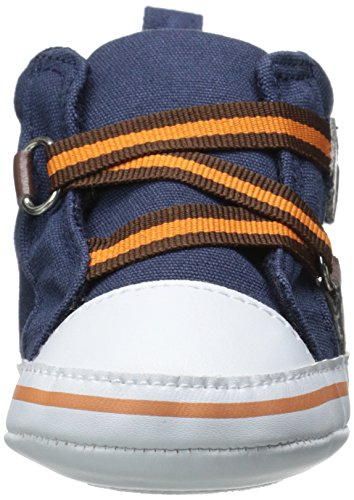 Luvable Friends Boy Zig Zag Hi Top Infant Blue 12 18