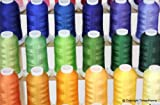 New Brother 40 Colors Embroidery Thread Set 40wt Polyester Threads from ThreadNanny