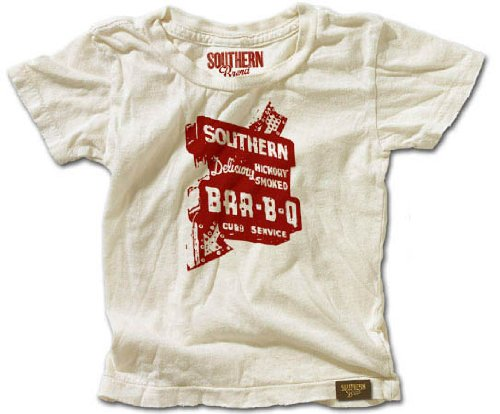 Southern Brand Lil' Ones 'BBQ' Baby T-Shirt (4T, Vintage White)