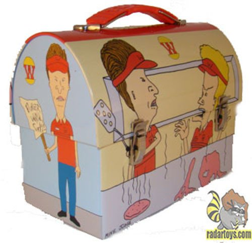 Beavis and Butt-Head Sofa Snacks Embossed Metal Lunch Box/ Carry-All