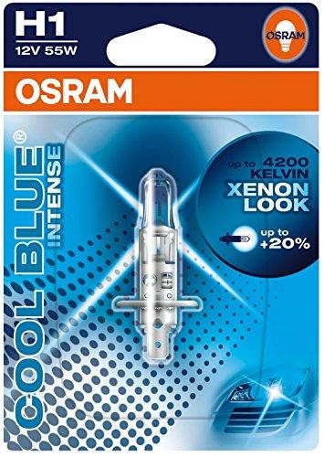 OSRAM COOL BLUE INTENSE H1 Lampada alogena per proiettori 64150CBI-01B 4200K e 20% di luce in più in Blister singolo