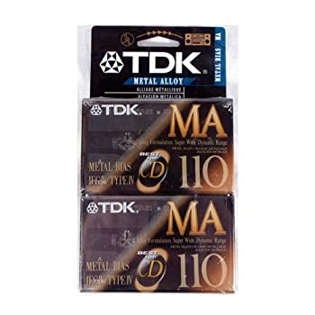 TDK MA-110 Metal Alloy/Bias Type IV Cassette Tapes 2-Pack by TDK