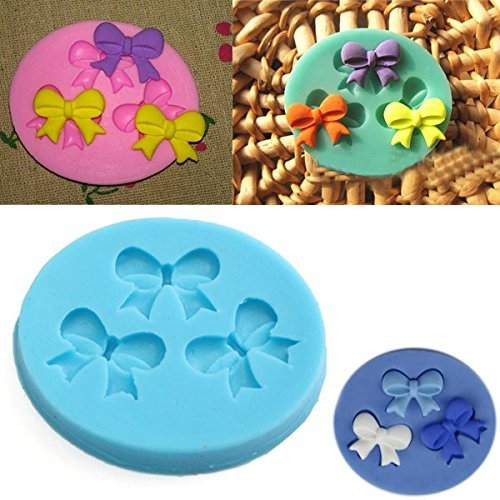 Silicone 3D Bowknot Fondant Mold Cake Decoration DIY Mold Mould (Crazy Monkey Baking compare prices)